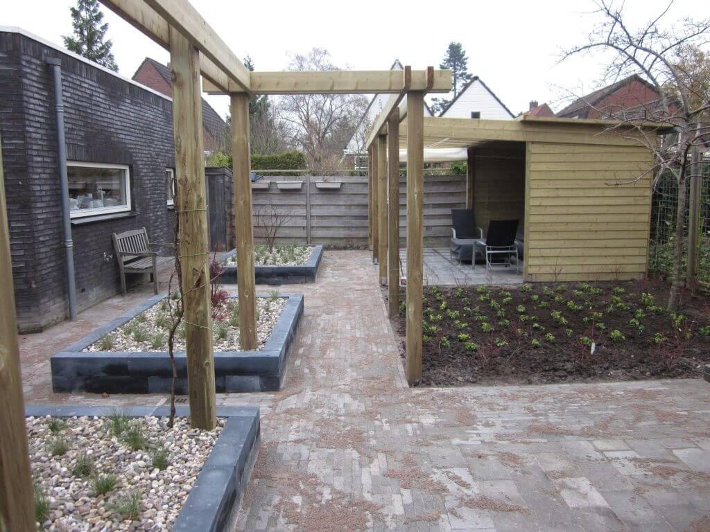Renovatie complete tuin hovenier van dijk tuinen groningen - Model van het terras ...